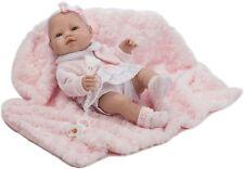 Berbesa -Muñeco bebe recién nacido vestido mantita 42 cm vinilo. Caja (5113)