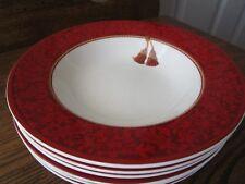 8  Hallmark Home Collection Sakura Red Holiday Abundance  Soup Bowls