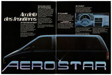 1986 FORD Aerostar Vintage Original 4 page Print AD Jacques Duval minivan Canada