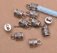 20pcs Tibetan Silver Charms Tube DIY Bead End Caps DIY Jewelry 10x16mm A3147