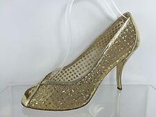 Delman Womens Metallic Gold Heels 8