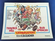 Original 1979 CRIME BUSTERS Half Sheet Movie Poster 22 x 28 TERRENCE HILL