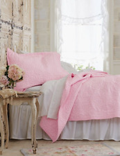 Rachel Ashwell Simply Shabby Chic Soft Pale PINK ROSE KING Quilt French Cottage