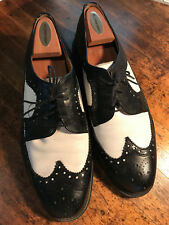 SOHO New York Made in Italy black/white wing tips Size 12 Leather Uppers/Soles