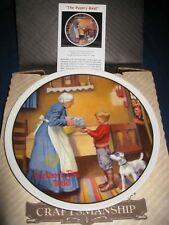 Norman Rockwell collector plate - The Pantry Raid - Mothers Day 1986