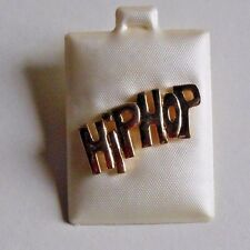 """NEW Lot of 3 Goldtone hipHop """"push"""" Pins Great to decorate Dancebag 1.25"""" across"""