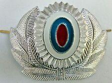 Original Russian MIA MVD Police Officer Cap Hat Badge Silver Metal Cockade