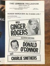 Rare Ginger Rogers 1978 London Palladium Programme