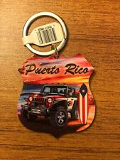 Puerto Rico KeyChain Souvenirs (Jeep/Willy & Surfboard)