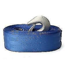 Superior Winch Webbing Strap With Snap Hook - 8m x 50mm - Boat Trailer - Marine