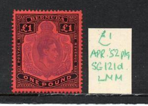 Bermuda George VI SG121d April  1952  ptg lightly hinged