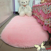 Lovely Fluffy Rugs Anti-Skid Shaggy Area Rug Home Room Bedroom Carpet Floor Mat