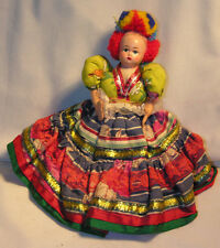 "Vintage 10"" Tall Hungary Folk Mangyar Costume Bride Cloth Souvenir Doll"