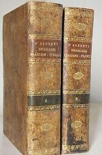 D'Alberti Dizionario Italiano Francese 1834 - Francais Italien  Livorno 2 volumi