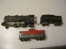 O27 Vintage Marx 999 2-4-2 Steam Die-Cast Locomotive W / NYC Tender & Caboose