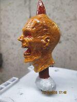 zombie head on stake walking dead hand painted ratrod car hood ornament