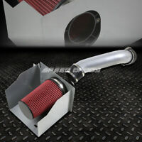 FOR 03-09 HUMMER H2 6.0/6.2 COLD AIR INTAKE COATED ALUMINUM PIPE+HEAT SHIELD KIT