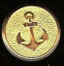 ANCHOR WWII NAVY Gemsco Hallmarked old Goldpl button
