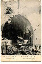 CP 62 - PAS-DE-CALAIS - Mont Saint-Eloi - Intérieur de l'Eglise - Guerre 1914-15