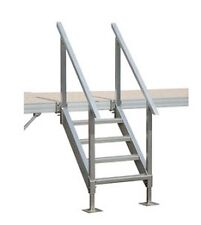 Boat Dock Stairs - 4 Step with Handrail