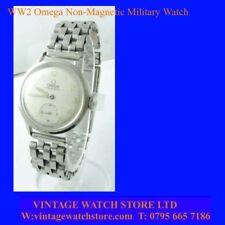 VINTAGE WW2 Acciaio Omega non magnetico Ufficiali militari incaricati Orologio da polso 1944