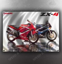 VINTAGE KAWASAKI ZX-4 MOTORCYCLE BANNER