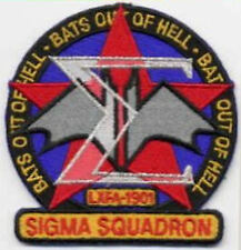 """B5   Babylon 5 Sigma Squadron Embroidered Iron-on Patch - """"Bats Out of Hell"""""""