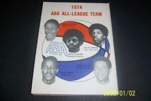 1974 75 ABA Guide Preview NEW YORK Nets JULIUS ERVING Kentucky ARTIS GILMORE