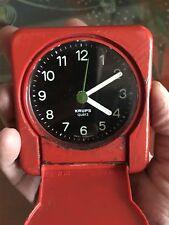 Vtg Red 1984 KRUPS Linea Jet Travel Alarm...RARE