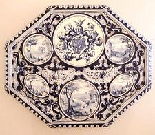 Grand plateau, dessous de plat, céramique de Creil & Montereau, fin du XIX ème.