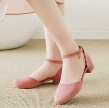 New Fashion Ankle Buckle Mary Jane Shoes Women Summer Shallow Mouth Single Shoes