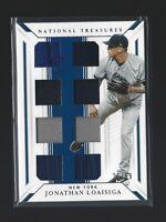JONATHAN LOAISIGA  2019 National Treasures  GAME GEAR EIGHTS  21/99  Yankees