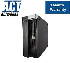 Dell T5610 E5-2630v2 6C/12T 2.6Ghz 16GB 14900R Ram 1TB HDD 825W W5000  W10P