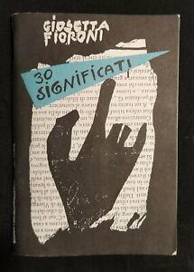 """Libri d'artista-Giosetta Fioroni. """"30 significati""""-1993"""