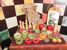 Vintage Primitive Game  Carrom Board, pieces. No board.