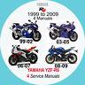 YAMAHA YZF-R6 1999-2009 SERVICE MANUAL (4 MANUALS on 1 CD) 99, 03, 06 & 08 A3