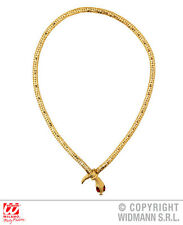 NECKLACE WITH RED GEM EYES GOLD EGYPTIAN SNAKE JEWELLERY for Ancient Pharaoh Egy