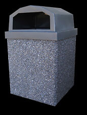 Trash Can {Pepper (Black Stone) Concrete Shell with Lid and Liner}
