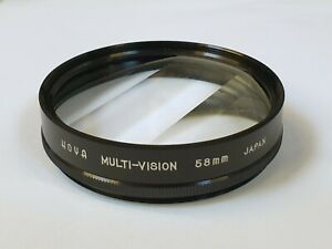 HOYA 58mm FILTER LENS  MULTI-VISION SPECIAL EFFECT in Leather CASE Used