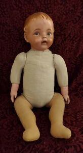 """Antique Composition/Cloth Doll Marked EHI 1915 Painted Features 21"""""""