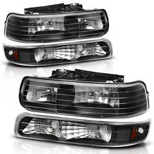 Headlights Headlamps Lamps Pair for 1999-2002 Silverado 2000-2006 Tahoe Suburban (Fits: Chevrolet)