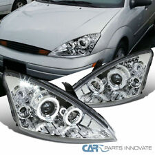 Ford 00-04 Focus Clear LED DRL Halo Projector Headlights Head Lamps Left+Right