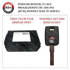 KEY PROGRAMMING FOR PORSCHE 911, BOXTER, CARRERA 1997-2004 BY THE PAS MODULE