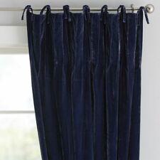 NWOT (1) Pottery Barn Teen Navy Shimmer Velvet Blackout Curtain/Drape 44 x 63