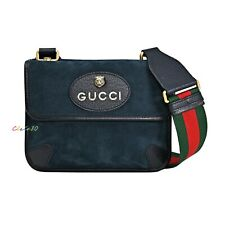 NWT Authentic Gucci Neo Vintage Suede Small Messenger Bag