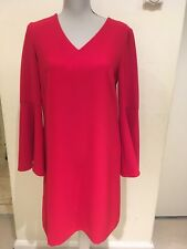 6f3bb3e13a2 Tahari Bell Sleeve Red Dress With V Neck Above The Knee Size UK 10-12RRP