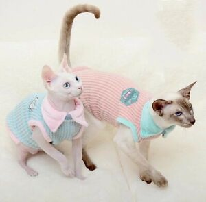 3PCS Sphynx Cat TOP T-shirt Vest clothes Devon Peterbald Chihuahua jumpers top