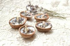 Soy Lavender candle Floating candles Walnut 5 pcs Wedding party favors Tea light