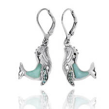 Original Handmade Squid Silver Earring Stylish Whale With Larimar Stone