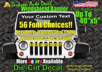 2 Custom Windshield Text Car Window Vinyl Decal Sticker Business Banner Sign